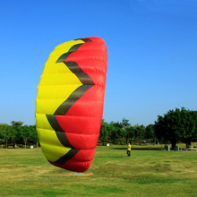 5Sqm Quad Line Stunt Kite Red Color Outdoor Kiteboarding Kitesurfing Trainer Kite Easy Flying Traction Power Kite(China)