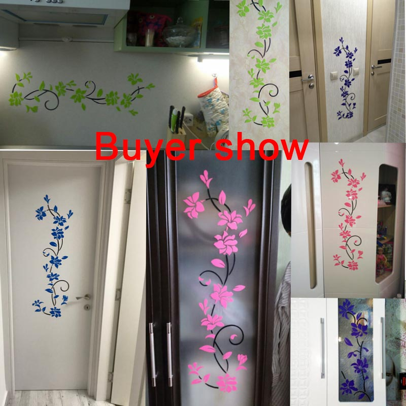HTB14z8IvrGYBuNjy0Foq6AiBFXar - Hoomall Acrylic Flower Wall Stickers Poster New Year Decorations Removable Stickers for Kitchen DIY Wall Stickers for Kids Rooms