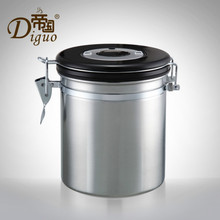 Stainless Steel Seal Pot Storage Tank Tea Coffee Bean Dried Preservation Tank Coffee Maker with Exhaust Valves(China)