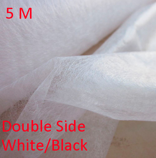 5 Meter Patchwork Interlining Double Faced Adhesive Batting Garment Interlining Non-Woven Fusible Interlining Dropshipping(China)
