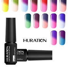 Huration 2017 Hot Sale Temperature Change UV LED Nail Gel Polish 29 Colour Gel Nail Polish 7ml UV LED Gel Lacquer(China)