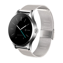 K88H Bluetooth Smart Watch with Heart Rate Monitor Stainless Steel Band Wristwatch for iOS and Android(China)