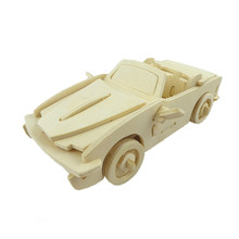 BOHS Scale Model 3D Puzzle Convertible Runabout Open Luxury Cars(China)