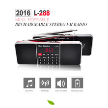 L - 288AMBT Bluetooth Wireless Speaker Support AM Radio FM Radio LCD Display Screen Support TF Card USB 3.5mm Audio Devices(China)