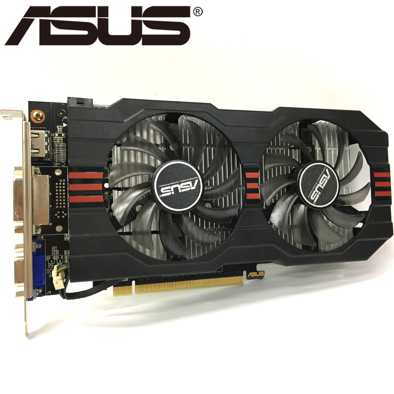 ASUS Graphics Card GTX650 Ti 1GB 128Bit GDDR5 Video Cards for nVIDIA Geforce GTX 650 Ti Used VGA Cards Stronger than GTX 750 650