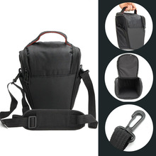 Professional Triangle DSLR Camera Cover Protector Waist Case Travel photo Shoulder Bag for Canon Digital Camera Black Gym Bags(China)
