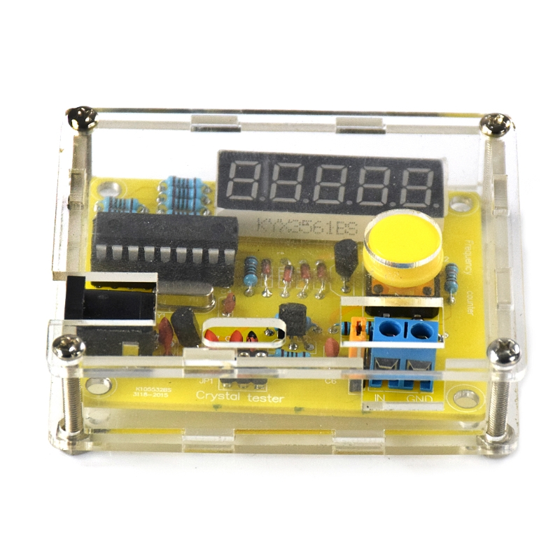 DIY Kits 1Hz-50MHz Crystal Oscillator Tester Frequency Counter Meter with Case #0616 2