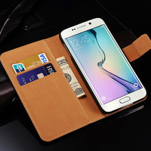Buy Wallet Case Samsung Galaxy S6 Edge / S6 Edge Plus Flip Genuine Leather Phone Bag Cover Samsung Galaxy S6 Edge Cases for $2.35 in AliExpress store