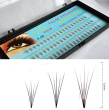 2cases eyelashes 5roots, Lashes, silk individual false mink eyelash extension 0.07C Curl 8-14mm(China)
