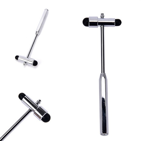 Neurological Reflex Hammer Leg Back Massage Promotional Zinc Alloy Multifunction With Brush And Pin Diagnostic Hammer