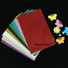 50pcs/lot, EVA Foam Diy Art Paper Sheet Craft with Glitters for Diy Gifts, Decor,Toys, 20*30cm,10 colors