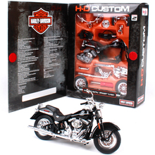 1/18 Maisto Model Motorcycle Toys Alloy Harley 2005Softail Springer Classic Motorbike Kids DIY Toy Car Assembly Kit Brinquedos