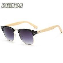 Mode Bambou lunettes de Soleil Femmes Hommes Marque Designer Bois Lunettes  de Soleil Pour Dames Rétro Semi-Sans Monture UV400 Mâ.. 48110fff91fe