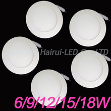 Ultra Thin Led Panel Lights 3W/4/6/9W Led Ceiling Downlights 12/ 15/18/24W Round Spot Led Recessed Ceiling Lamps Lights 220V110V