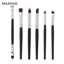 6PCS Set Cosmetic Makeup brushes Eyeshadow Eyeliner Powder Foundation Brush Toiletry Kit tools Professional Cosmetics brushes