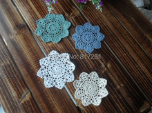 2015 fashion ZAKKA 20 pic/lot cotton crochet lace doilies for home decor dinner table napkin cup coaster potholder table mat pad