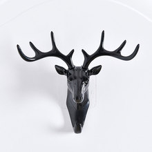 Creative Deer Head Antlers Wall Hook Home Hanging Clothes Hat Scarf Keys Rack Holder 2018ing(China)