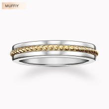Gold Color Rope 925 Sterling Silver Band Ring,TS Gift for Women & Men,Thomas Style Factory Wholesale Price 2017 Fine Jewelry