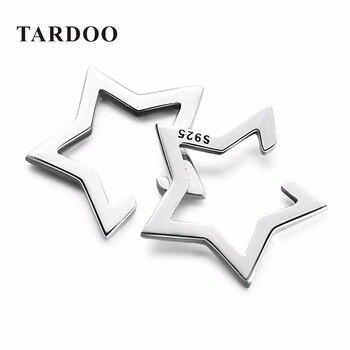 Tardoo Marca Lindo Pentagram Estrella Pendientes de Clip para Las Mujeres 925 Sterling Silve Clásicos Declaración Oído de La Joyería Fina