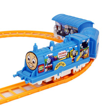 Electric Child Thomas Tomas and Friend Train Railway Railroad Rail Track Set Electric Auto Locomotive Kid Toy Gift