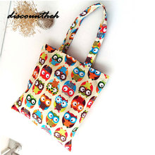 New Eco Reusable Shopping Bags Cloth Fabric Grocery Packing Recyclable Bag Hight Simple Design Lovely Tote Handbag Fashion(China)