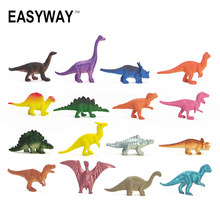 Easyway Dinosaurs Model Cute Animals Gifts Boys Toys Hobbies Kids Mini Small Jurassic Plastic Dinosaurus Figures 16pcs Set Toy(China)