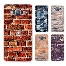 Brick pattern Clear Transparent Cell Phone Case Cover for Samsung Galaxy A3 A5 A7 A8 A9 2016 2017