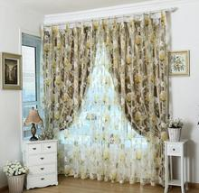 Fashion romantic tulle for windows luxury translucidus sheer curtains for the bedroom living room design curtain fabric drapes