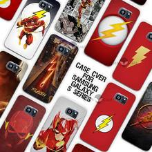 Hot sale Flash Man Superhero Clear Case Cover Coque Shell for Samsung Galaxy S3 S4 S5 Mini S6 S7 Edge Plus