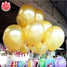 20pcs/lot 12inch Gold latex balloon air balls inflatable for wedding Kid's birthday party decoration Float balloons toys