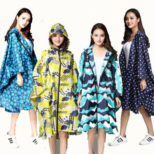 Trench Coat Style Hooded Raincoat rainproof for Women lady Girl Rainsuit Outdoor Long Poncho Waterproof Rain Coat Rainwear YY406