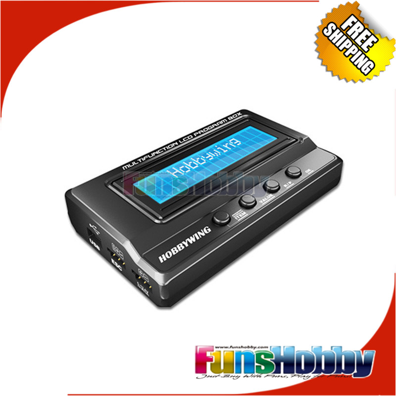 Hobbywing 1/8 1/10 RC Model On Road Off Road 3in1 LCD Program Card Box Adjust and Upgrade the ESC<br>