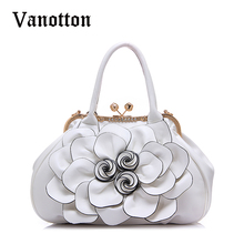 2017 fashion Brand Design Women Casual Floral Handbags High Quality PU Leather Bags Shoulder Bag Handbags
