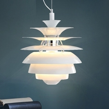 Modern White Retro Designer Artichoke Style Pendant Light Fitting Lamp Fixture for Hotel Restaurant Living Room Bedroom Office(China)