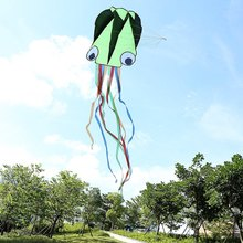 2016 New Soft Octopus Kite + Kite Handle with 30m Kite Line 4M Frameless Kite Outdoor Sport Flying Toy Kids Children Kites Gifts