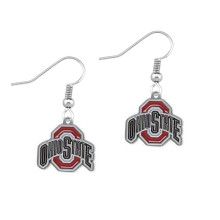 Skyrim Fashion Ohio State Football Buckeyes rhodium plated earrings for women