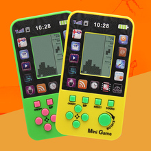 2pcs Free Shipping Kids Console For Children Toy Retro Built-in 23 Games Tetris Game Console Classic Intellectual Toys Console