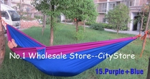 Free Shipping 50pcs/lot Portable Parachute Camping Outdoor Double person HAMMOCK very soft 260*140CM Max Loading 140KG(China)