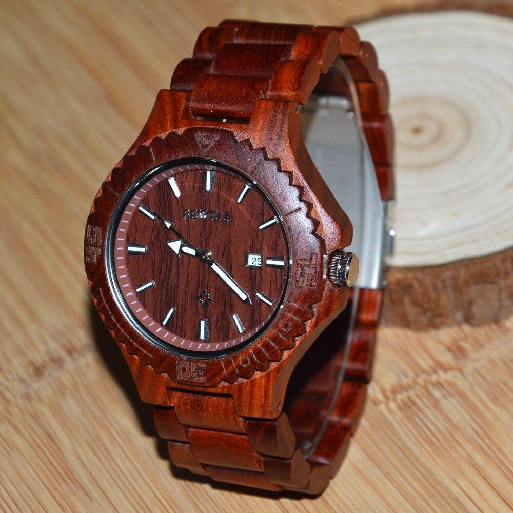 Bewell BEWELL Wood Watch Men Desiger Watches Calendar $