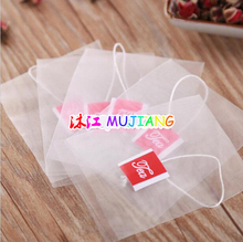 1000pcs/lot Nylon Pyramid Tea Filters Tea Bags Bag Single string with label Transparent Empty Teabags 5.6*7cm 6.5*8cm