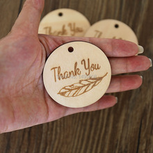 Thank You Feather Tags Wedding Engagement Birthday Baby Shower bonbonniere favours corporate business gift cathscottage(China)