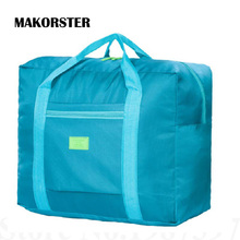 MAKORSTER Travel Luggage Bag Big Size Folding Carry-on Duffle bag Foldable Pouch waterProof Women Travel Bags XH233(China)