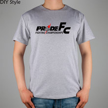 PRIDE FC MMA mixed martial fighting championships men T-shirt cotton Lycra top t shirt for men summer
