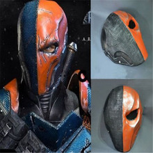 Takerlama Orange Deathstroke Mask Helmet Full Face PVC Assassin Deathstroke Terminator Slade Joseph Wilson Cosplay Mask Props