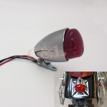 Chrome Motorcycle Mini LED Rear Stop Tail Brake Light For Harley Bobber Cruiser Chopper Custom