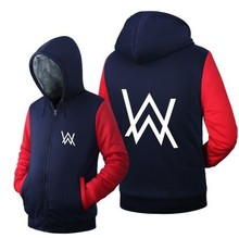 Dropshiping DJ Alan Walker Stars Loves Hoodie Logo Winter Fleece Men Women Jacket Coat Sweatshirts Free Shipping USA Size