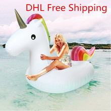 Inflatable Giant Unicorn Air Sofa Air Mattresses Floating Inflatable Mattress Swimming Pool Float Raft Toyfor beach days(China)