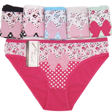 Buy Woman Underwear Cotton Sexy Panties Cute Dots Printed Briefs Ladies Knickers Intimates Women (6pcs/lot)