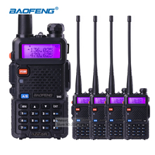 4pcs Baofeng UV5R 5W Dual Band VHF UHF Handheld CB Radio Walkie Talkies with Earpiece Ham Radio Communicator HF Transceiver(China)