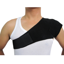 2016 Hot Selling 1 PC Adult Adjustable Single Shoulder Support Posture Shoulder Belt Corrector Medical Tourmaline Shoulder Brace(China)
